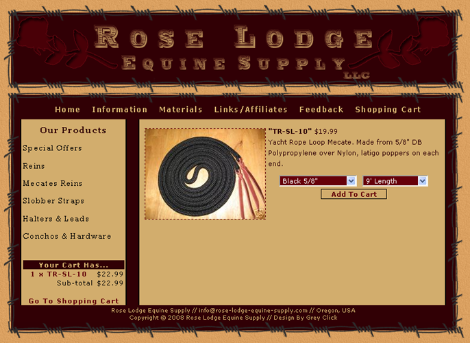 Roselodge Equine Supply - Click To Enlarge